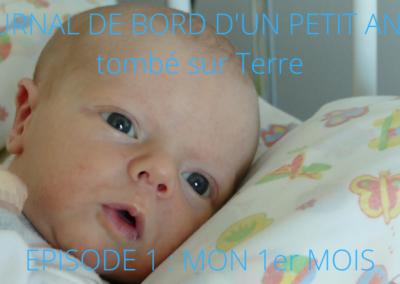 JOURNAL DE BORD D'UN PETIT ANGE tombé sur Terre -1-