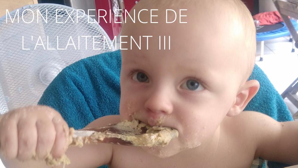 MON EXPERIENCE DE L'ALLAITEMENT III : allaitement mixte et suite de la diversification (12-24mois)